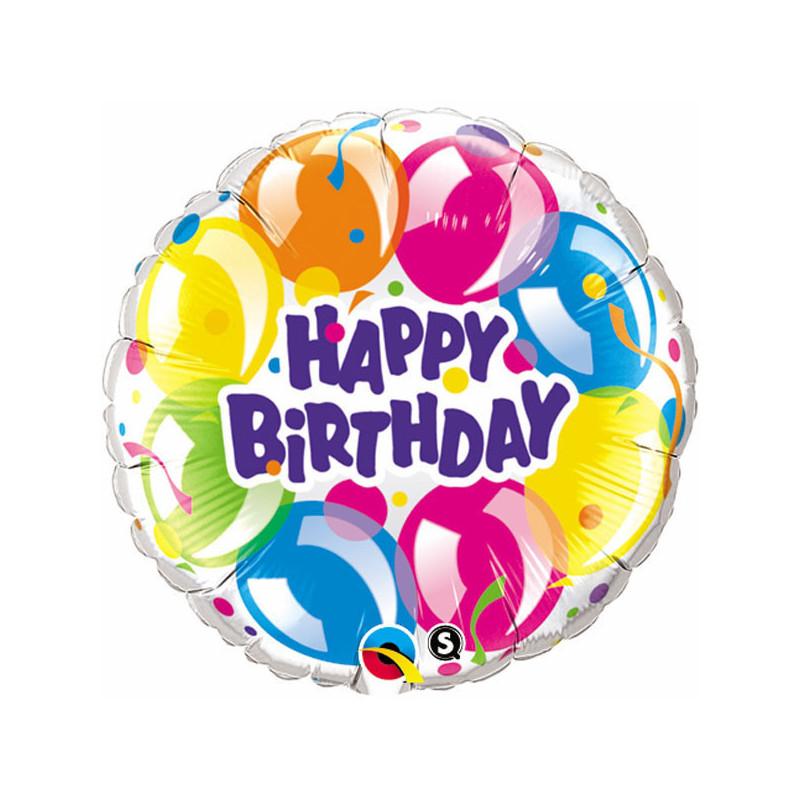 Folien Ballon Happy Birthday Balloons