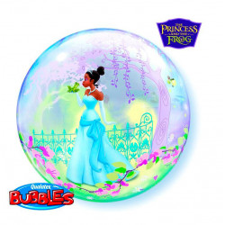 Folien-Ballon Bubbles Prinzessin und Frosch