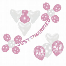 Luftballon-Dekoset Just Married